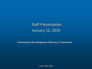 Community Development Advisory Committee