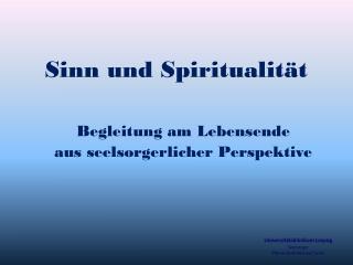 Sinn und Spiritualität