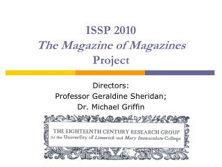 ISSP 2010 The Magazine of Magazines  Project