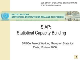 SIAP:  Statistical Capacity Building