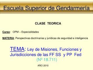 Escuela Superior de Gendarmería