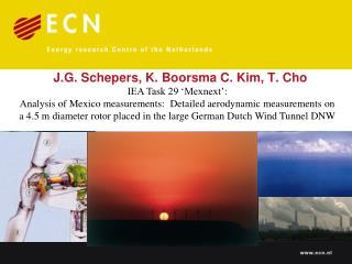 J.G. Schepers, K. Boorsma C. Kim, T. Cho