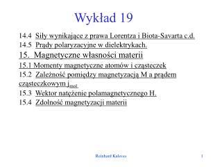 Wykład 19