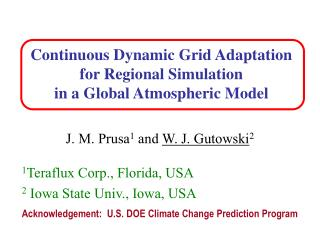 Continuous Dynamic Grid Adaptation  for Regional Simulation  in a Global Atmospheric Model
