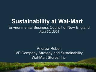 Sustainability at Wal-Mart