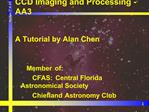 CCD Imaging and Processing - AA3