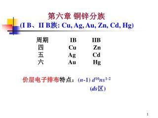 周期               IB          IIB 四                 Cu           Zn