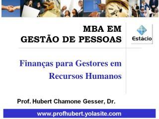 Finanças para Gestores em Recursos Humanos