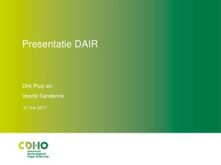 Presentatie DAIR