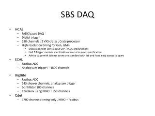 SBS DAQ