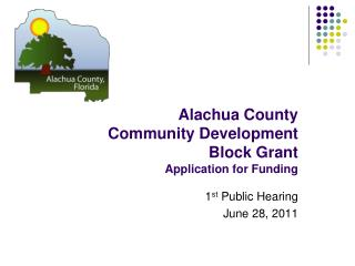 Alachua County  Community Development Block Grant Application for Funding