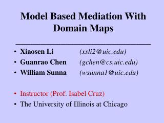 Model Based Mediation With Domain Maps ___________________________