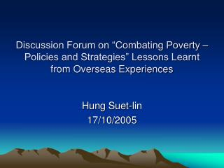 Hung Suet-lin 17/10/2005