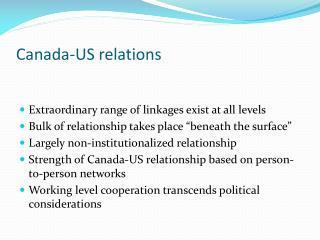 Canada-US relations