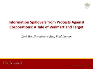 Information Spillovers from Protests Against  Corporations: A Tale of  Walmart  and Target