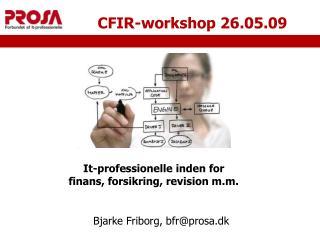 CFIR-workshop 26.05.09