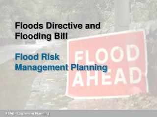 Floods Directive and Flooding Bill Flood Risk Management Planning