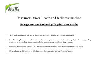 Consumer-Driven Health and Wellness Timeline
