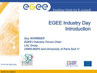 EGEE Industry Day Introduction