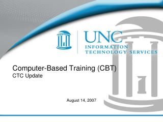 Computer-Based Training CBT CTC Update
