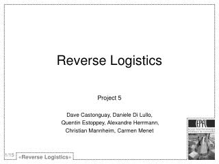 PPT - How to... Reverse Logistics Auctions