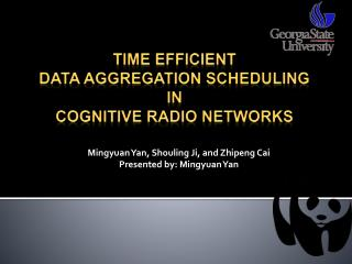 Time efficient  Data aggregation scheduling  in  cognitive radio networks