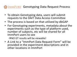 Genotyping Data Request Process