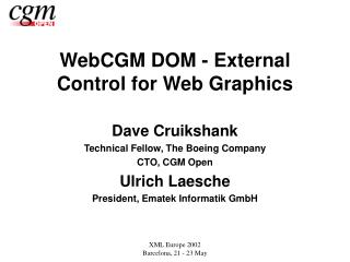 WebCGM DOM - External Control for Web Graphics