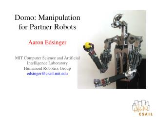 Robots That Can Work Alongside Humans