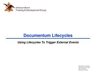 Documentum Lifecycles