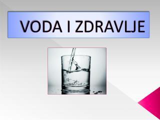 VODA I ZDRAVLJE