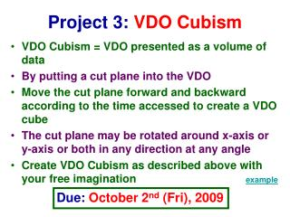 Project 3:  VDO Cubism