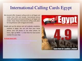 International calling cards