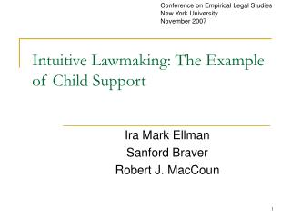 Intuitive Lawmaking: The Example of Child Support