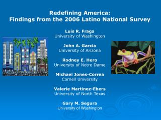 Redefining America:  Findings from the 2006 Latino National Survey Luis R. Fraga