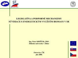 Ing. Peter KRIŠŠÁK, PhD. Žilinská univerzita v Žiline