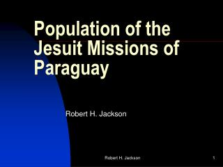 Population of the Jesuit Missions of Paraguay