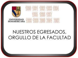 NUESTROS EGRESADOS, ORGULLO DE LA FACULTAD