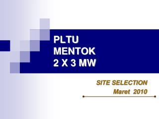 PLTU  MENTOK 2 X 3 MW