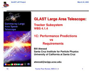 GLAST Large Area Telescope: Tracker Subsystem WBS 4.1.4 1C: Performance Predictions