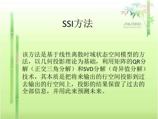 SSI 方法