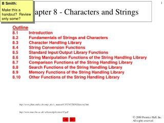 Chapter 8 - Characters and Strings