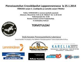 Etelä-Karjalan Pienoisautoilijoita tukemassa