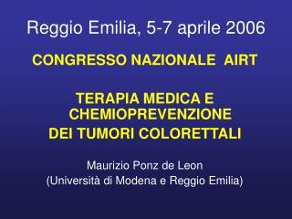 Reggio Emilia, 5-7 aprile 2006