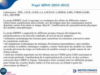 Projet DEPHY (2010-2012)