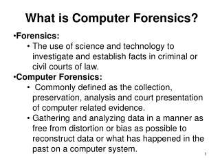 Forensics: