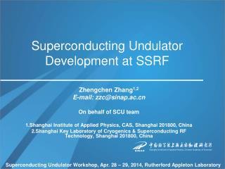Superconducting Undulator Development at SSRF