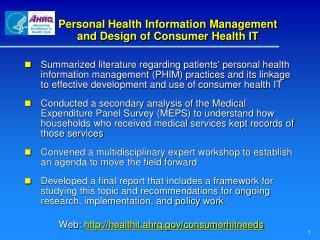 Personal Health Information Management and Design of Consumer Health IT