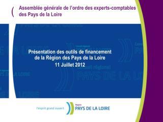 Assemblée générale de l'ordre des experts-comptables des Pays de la Loire