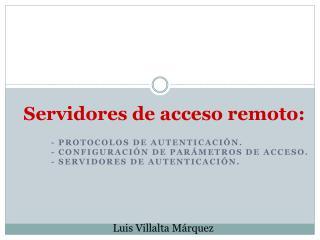 Servidores de acceso remoto: